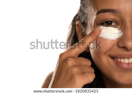 woman cleans her face Stock photo © ssuaphoto