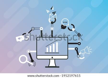 デスクトップ crm アイコン デザイン ビジネス 金融 ストックフォト © WaD