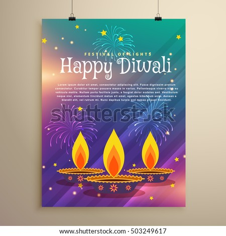 Heureux diwali festival flyer accueil modèle Photo stock © SArts