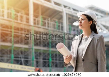 asian engineer architect professional occupation wearing suit an stock photo © frameangel