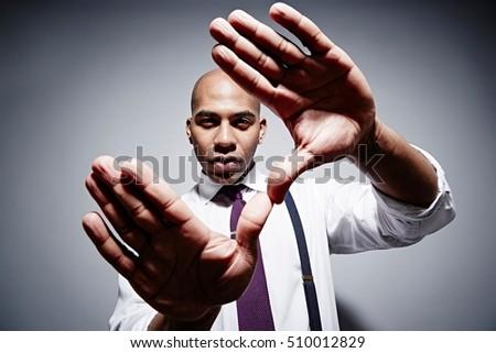 Széles látószögű kép komoly üzletember kezek szexi Stock fotó © feedough