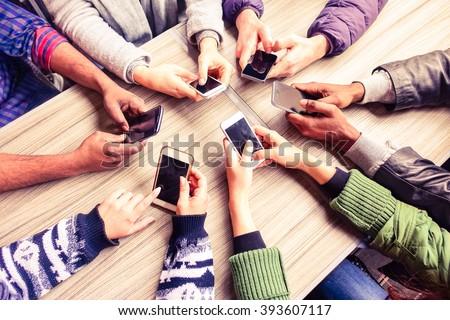Man using mobile phone in restaurant Stock photo © wavebreak_media