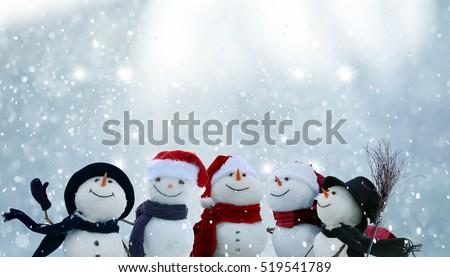 invierno · paisaje · postal · caer · nieve · ataviar - foto stock © sarts