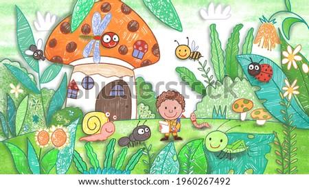 mushroom painting little world Stock photo © compuinfoto