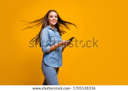 Woman with movement in hair Stock photo © IS2