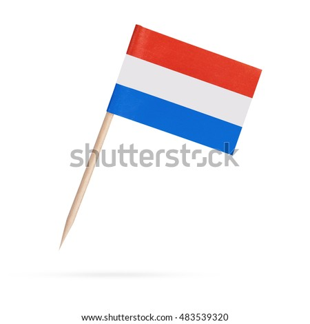 Bandera Países Bajos primer plano sombra blanco Foto stock © m_pavlov