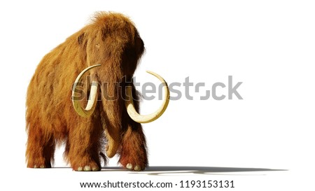 mammoth isolated prehistoric elephant on white background gian stock photo © popaukropa