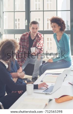 студентов смешные громко разговор перерыва Сток-фото © Kzenon