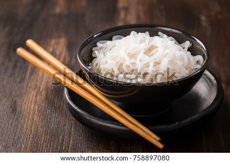bowl of shirataki noodles konjac stock photo © brebca