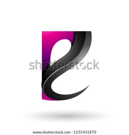 Magenta preto vetor isolado Foto stock © cidepix
