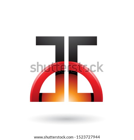 Orange and Red Letters A and G with a Glossy Half Circle Vector  Stock photo © cidepix