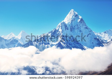 Mountain peak in snow Stock photo © vapi