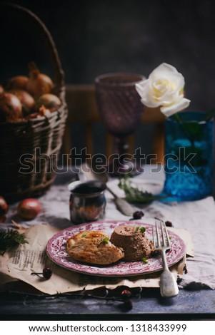 куриные печень куриная грудка Focus продовольствие обеда Сток-фото © zoryanchik