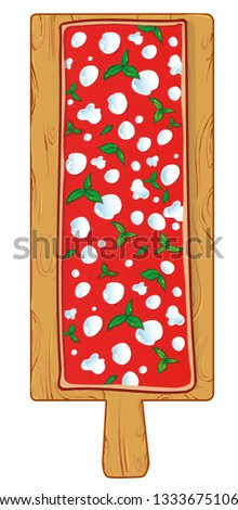 chopping board with Pizza margherita by the Meter in Beech Wood Stock photo © doomko
