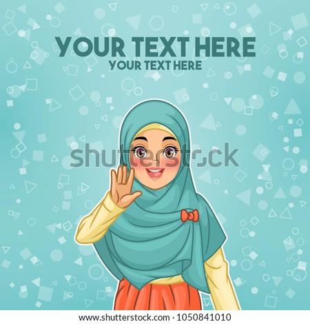 Árabe mulher mão desenho animado isolado Foto stock © NikoDzhi