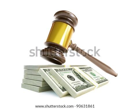 korrupció · boríték · tele · pénz · izolált · fehér - stock fotó © iserg