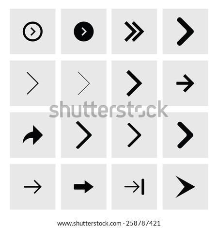 Helyes háló egyszerű nyilak webdesign következő Stock fotó © kyryloff