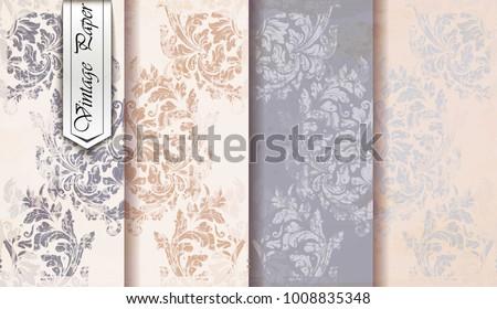Klasszikus dekoráció minta vektor virágzik királyi Stock fotó © frimufilms