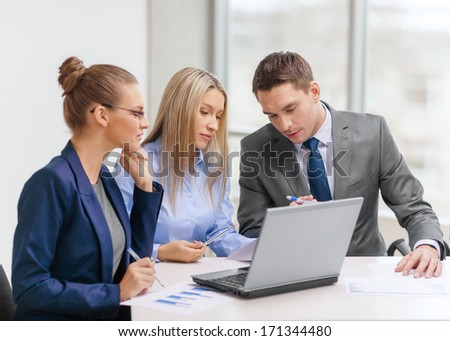business man working with many document graph and laptop, calcul Stock photo © Freedomz