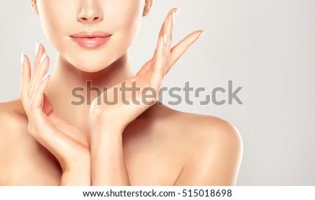 güzel · bir · kadın · pamuk · parlak · portre · resim - stok fotoğraf © serdechny