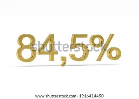 Osiemdziesiąt cztery procent biały odizolowany 3D Zdjęcia stock © ISerg
