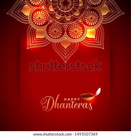 creative happy dhanteras background with diya design Stock photo © SArts