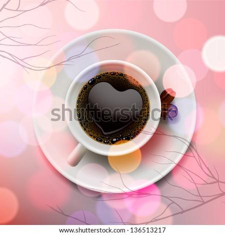 Liefde koffiekopje koffie wazig gelukkig kunst Stockfoto © ikopylov
