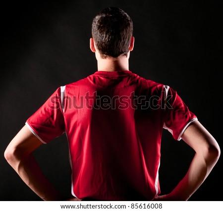 Blauw · sport · voetbal · permanente · voetbal - stockfoto © matimix