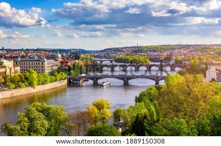 görmek · Prag · Çek · Cumhuriyeti · kilise · kale · gökyüzü - stok fotoğraf © borisb17