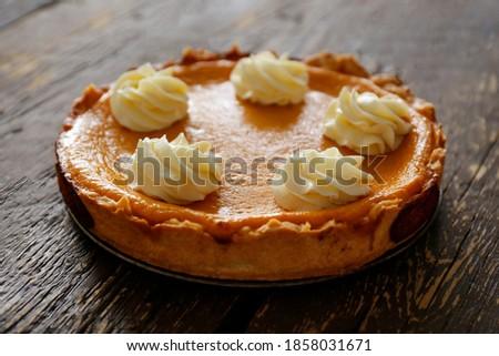 Traditioneel amerikaanse eigengemaakt pompoen taart zoete Stockfoto © furmanphoto