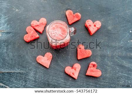 água melão cortar forma de coração melancia Foto stock © galitskaya