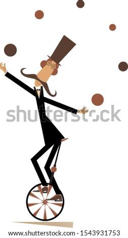 Snor man illustratie grappig Stockfoto © tiKkraf69