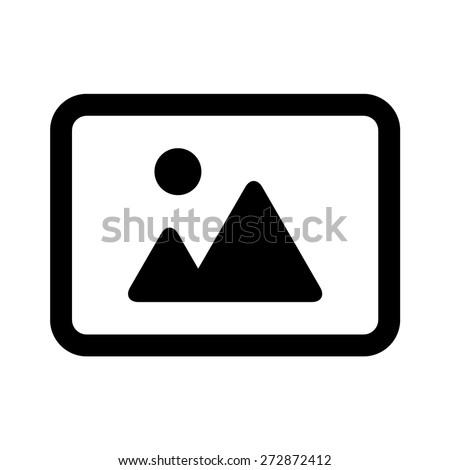 Tájkép fotó kép kép vektor ikon Stock fotó © kyryloff