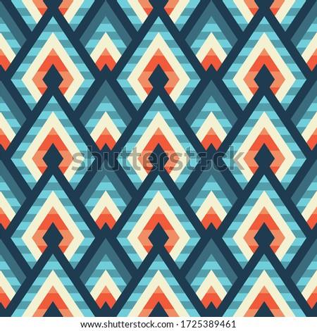 対角線 シームレス ジグザグ 単純な パターン 青 ストックフォト © ExpressVectors