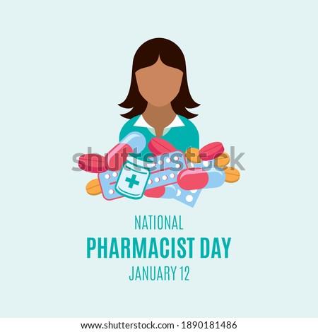 Pharmacist woman. Isolated image. Profession avatar. Pharmacy vector illustration Stock photo © Imaagio
