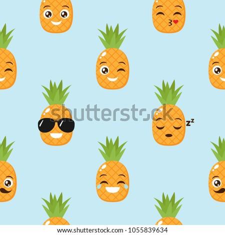 Alegre cor engraçado faces amarelo Foto stock © vasilixa