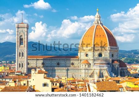 Beautiful renaissance cathedral Santa Maria del Fiore in Florenc Stock photo © Zhukow