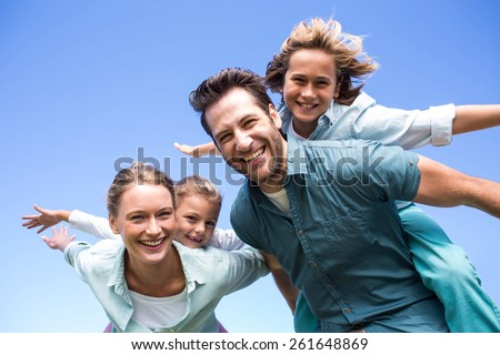 Parents with children in countryside outdoors  Stock photo © dashapetrenko