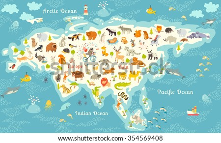 educational illustration of North American animals color book Stock photo © izakowski