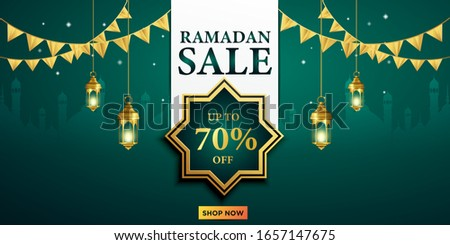 Ramadan sale offer banner design. Promotion poster, voucher, discount, label, greeting card of Ramad Stock photo © taufik_al_amin
