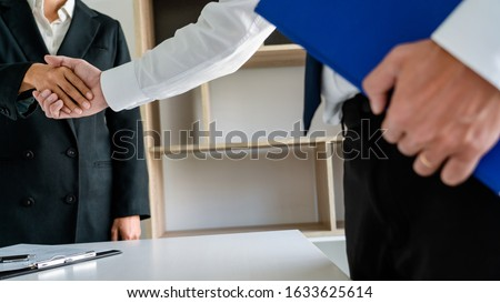 Good deal career and placement concept, successful young busines Stock photo © snowing