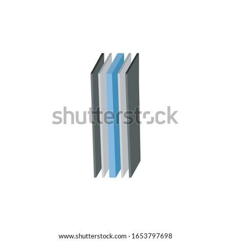 Vijf laag structuur illustratie 3D perspectief Stockfoto © kyryloff