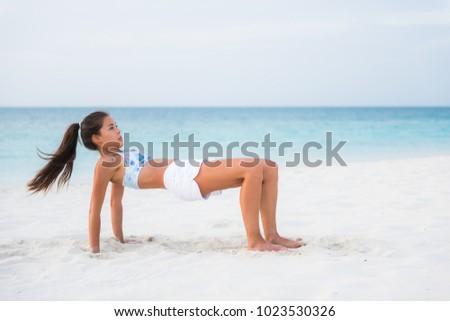 Tabeli górę stanowią jogi zaawansowany fitness Zdjęcia stock © Maridav