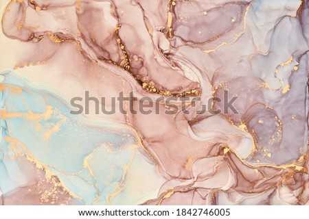 Artistic abstract texture background, golden acrylic paint brush Stock photo © Anneleven