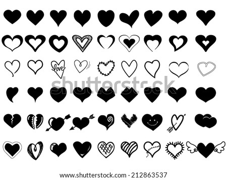 Winged Hearts and Shapes with Arrows Collection Stock photo © robuart