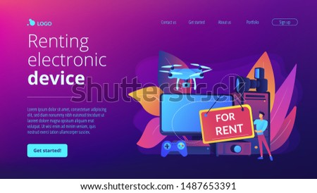 Renting electronic device concept landing page. Stock photo © RAStudio