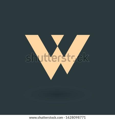 Geometryczny trójkąt list korporacyjnych tożsamości tech Zdjęcia stock © kyryloff