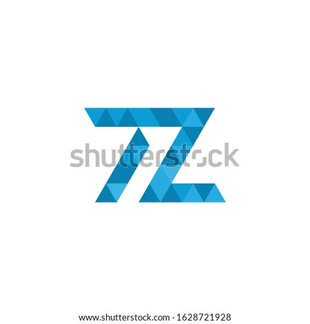 TL triangle geometric pixel letters logo design. corporate identity. Tech company logo concept. Stoc Stock photo © kyryloff
