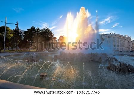 ウイーン 噴水 ストリートビュー 空 建物 バラ ストックフォト © xbrchx