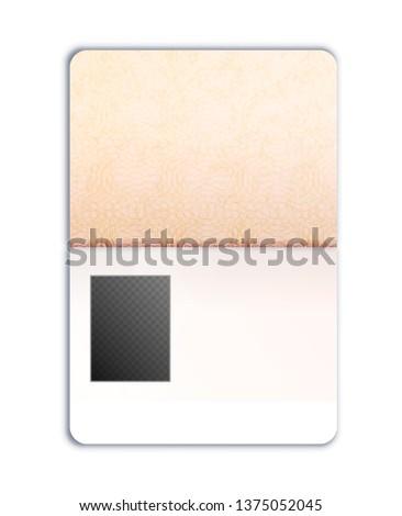 Buitenlands paspoort sjabloon foto plaats realistisch Stockfoto © evgeny89